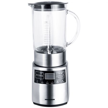 Blender Heinner Master Collection HBL-1000XMC, 1000 W, 1.5 l, 5 viteze   functie Pulse, Negru/Argintiu