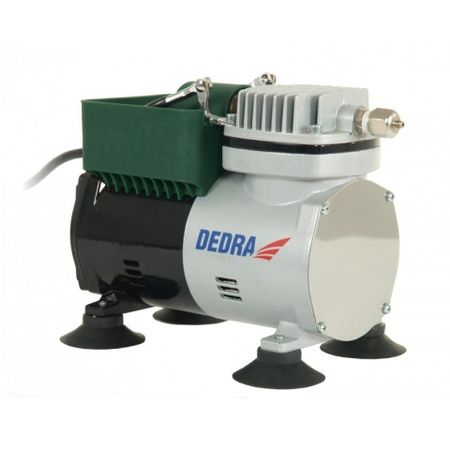 Minicompresor DEDRA 300W cu kit aerograf , 3.5 bar, 50L-60L/min
