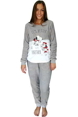 Pijama dama pufoasa si calduroasa , Model Snoopy - Its Better Together, UBX,  Marimea S-M