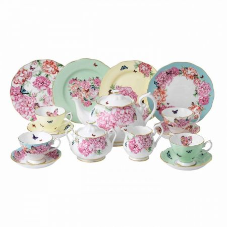 Set portelan 15 piese asortate Friendship MIRANDA KERR Royal Albert, stil shabby chic