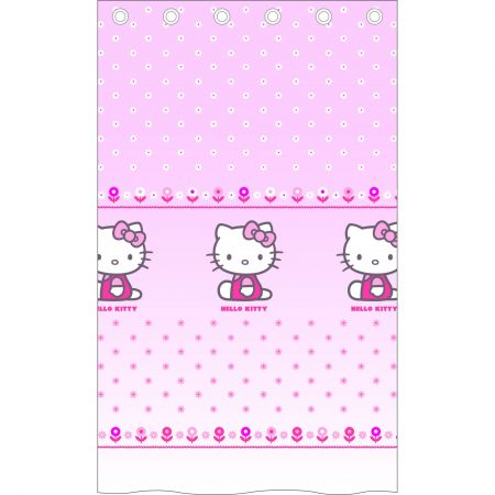 Disney perdea Hello Kitty roz 140x240 cm - camera copiilor