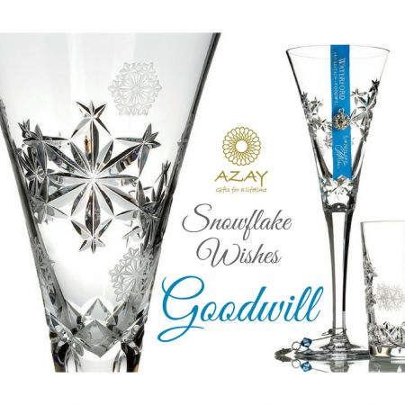 Pahar cristal sampanie Snowflake Whishes - Goodwill