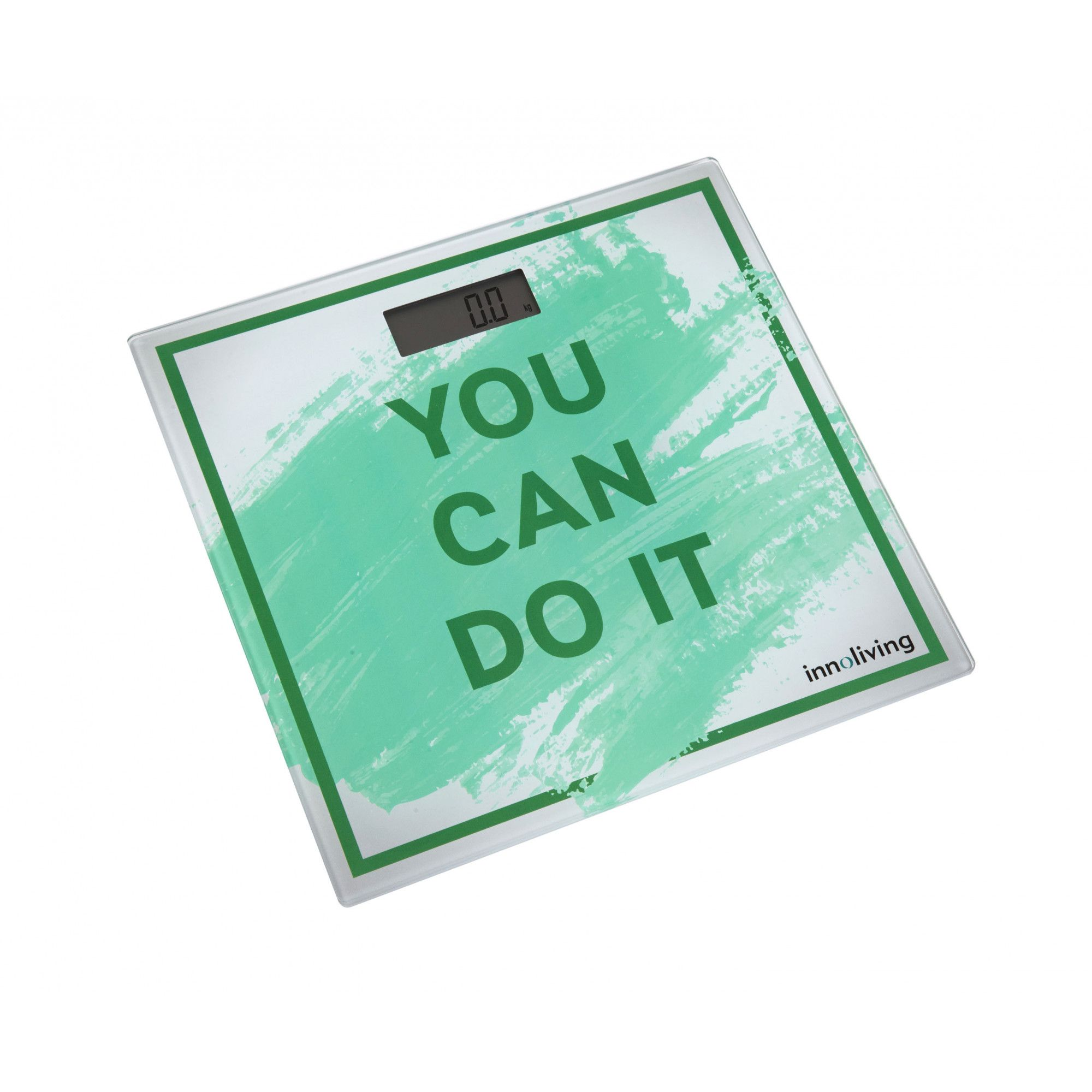 Cantar corporal You can do it Innoliving INN-142G, 180 kg, Platforma sticla, Verde